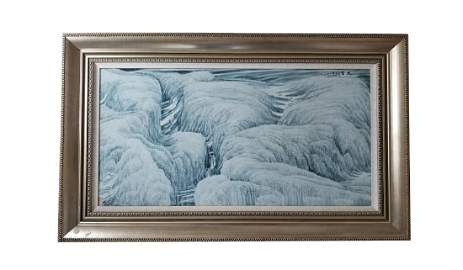 CHINESE PORCELAIN PLAQUE BY LV HUAIZHONG