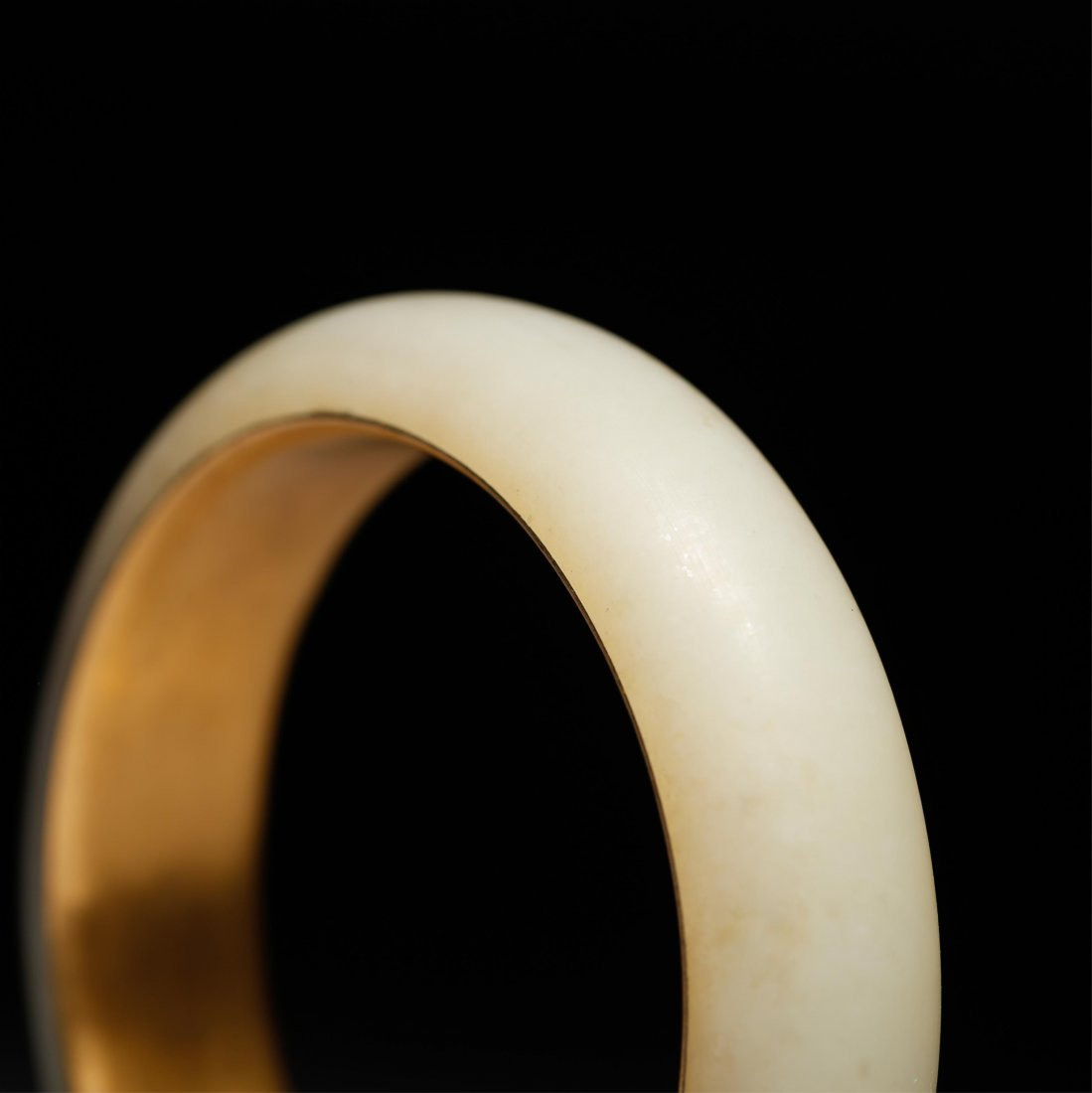CHINESE GOLD AND YELLOW JADE BANGLE - 6