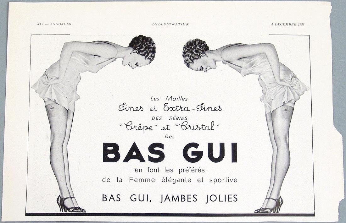 Antique 1936 Bas Gui Advertisement