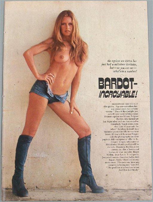 Vintage Nude Pin Ups Featuring Brigitte Bardot
