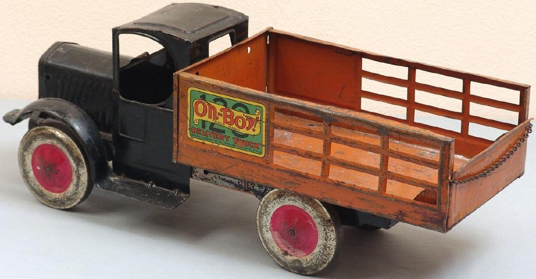"Large Antique 1927 ""Oh-Boy!"" Toy Delivery Truck"
