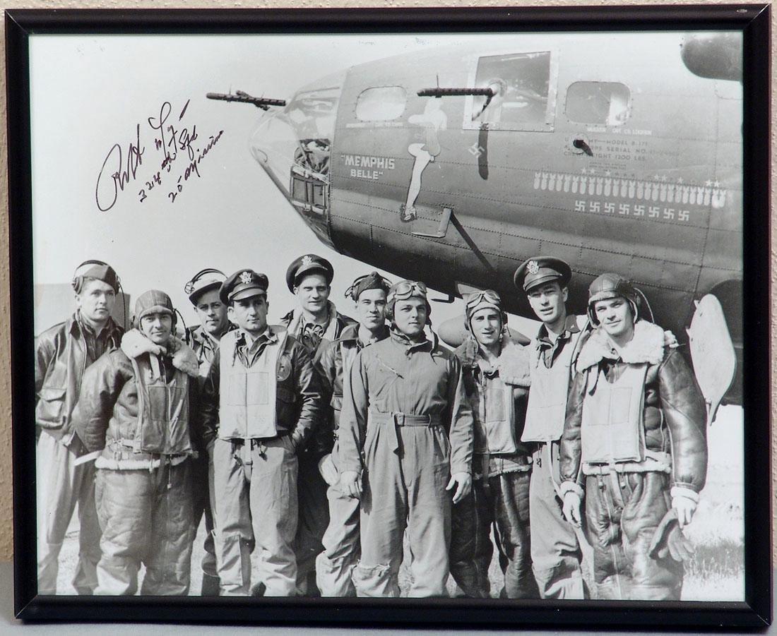 "Photo of B-17 ""Memphis Belle"" Signed by Robert Morgan"