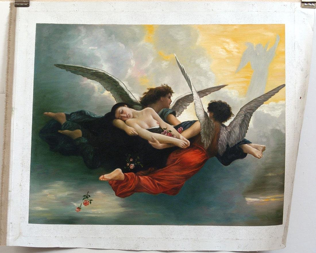 """Original Oil Painting Based on """"Soul Brought to Heaven"""""""