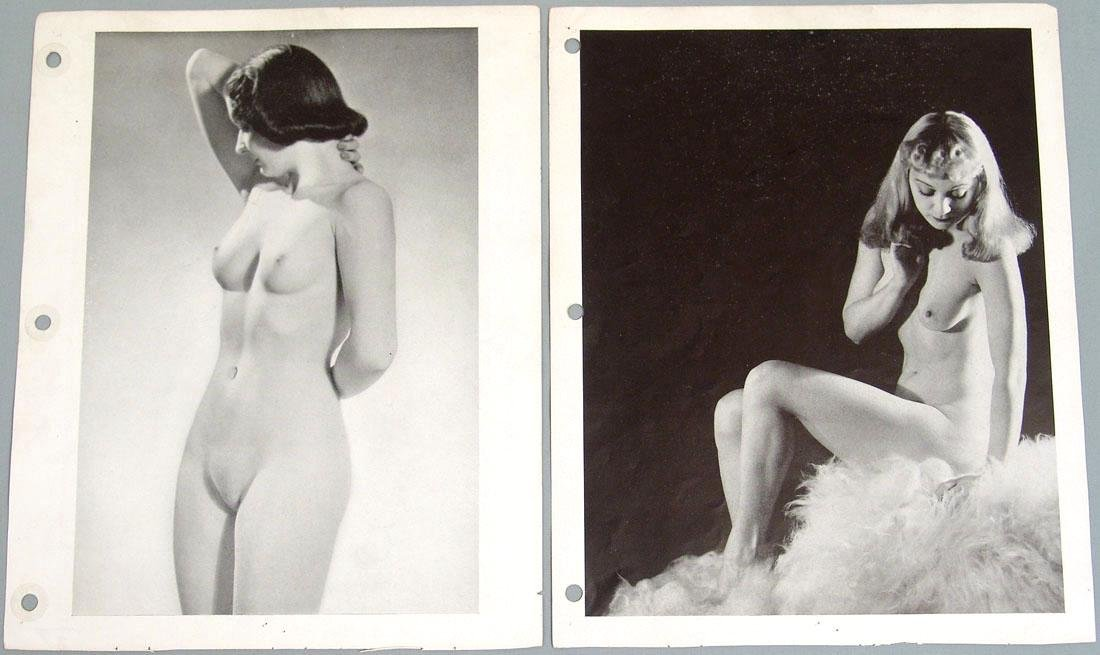 "Lot of Antique c1940 Nude ""Art Studies"" Photos - 2"