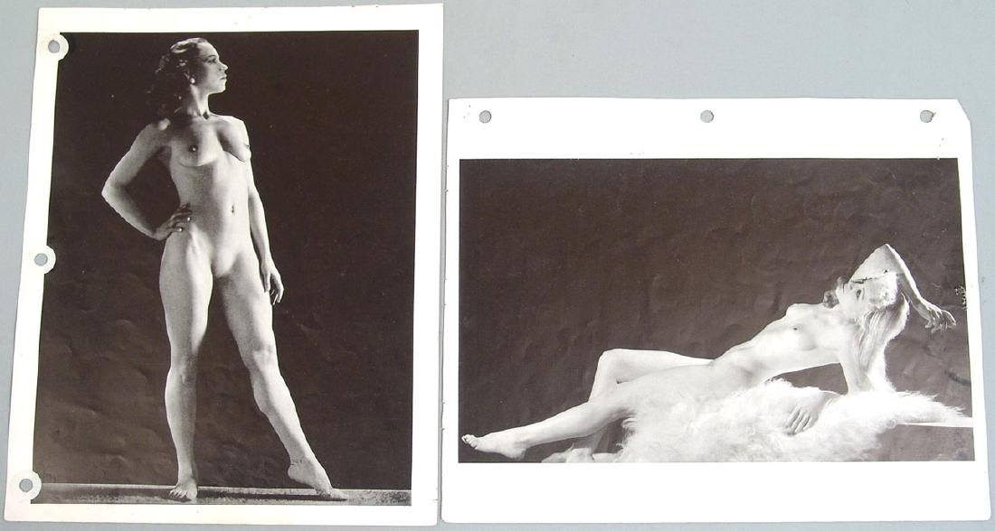 "Lot of Antique c1940 Nude ""Art Studies"" Photos - 3"