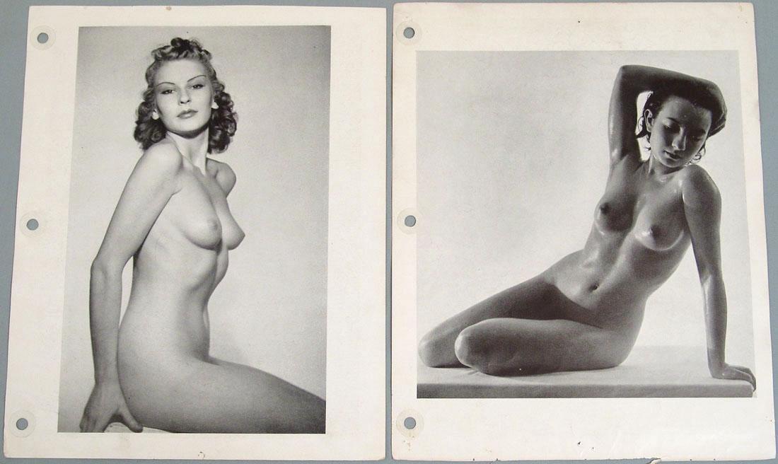 """Lot of Antique c1940 Nude """"Art Studies"""" Photos"""