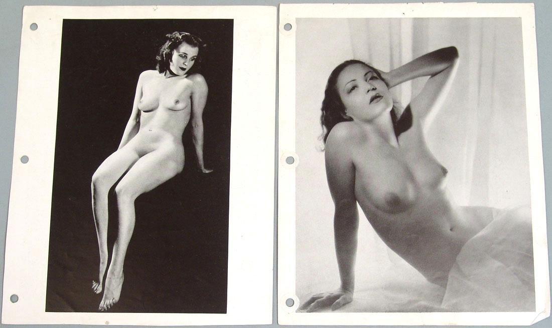 """Lot of Antique c1940 Nude """"Art Studies"""" Photos - 2"""