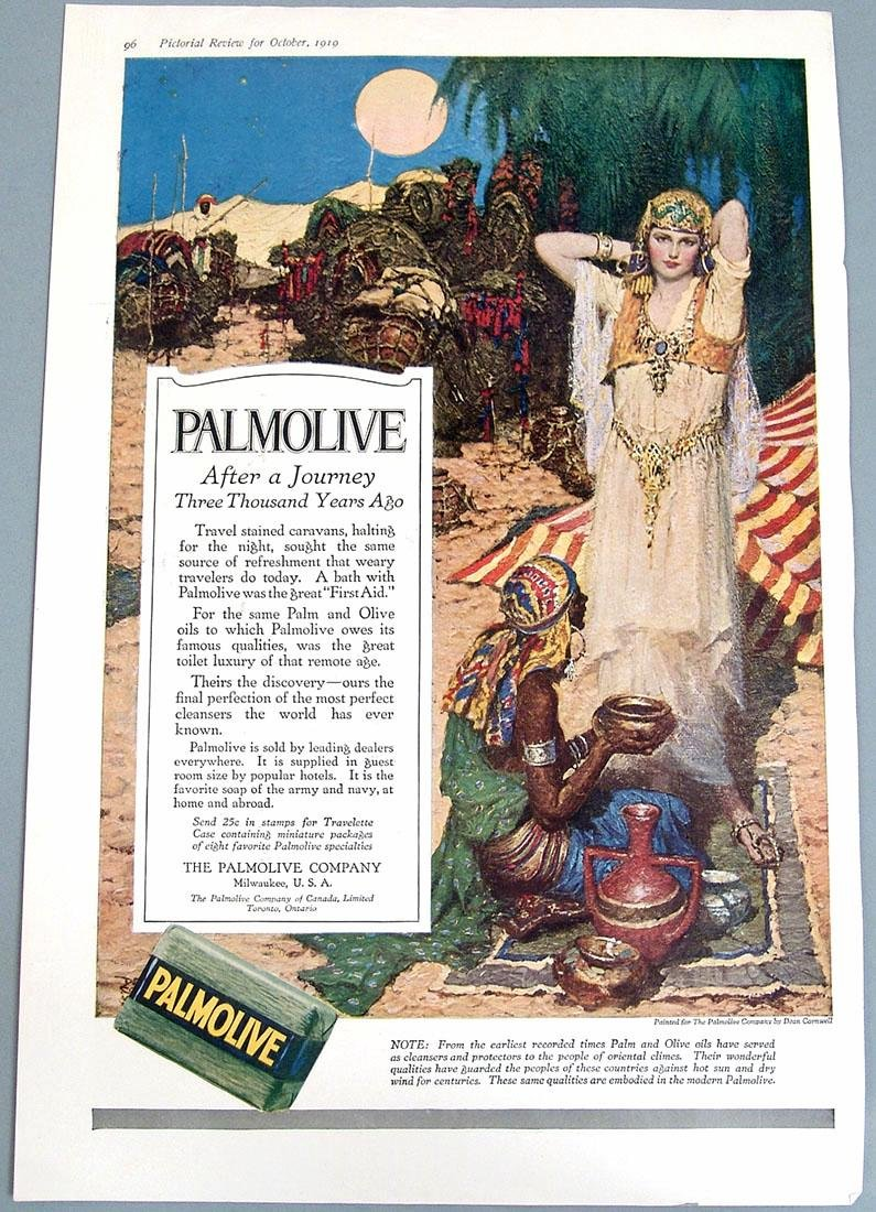 Antique 1919 Palmolive Deco Ad - Egyptian Princess