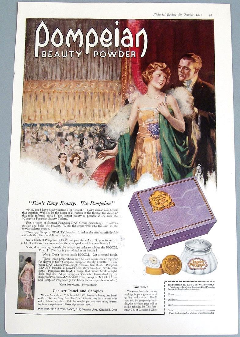 Antique 1919 Palmolive Deco Ad - Egyptian Princess - 2