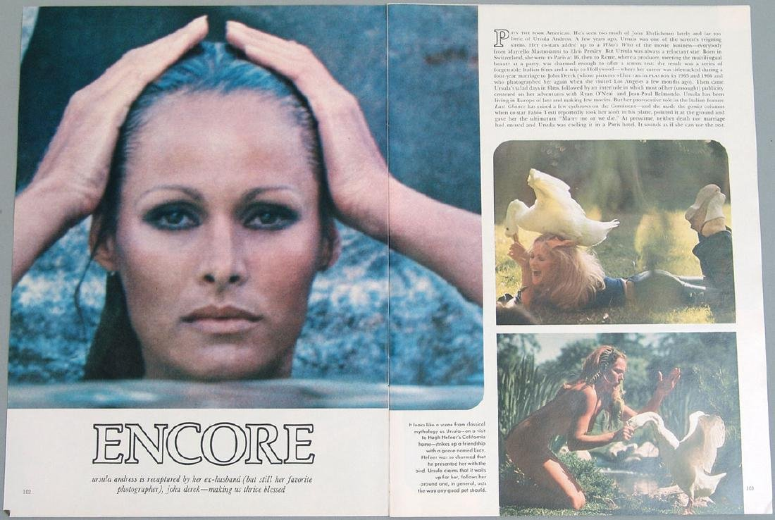 Vintage Nude Pictorial Featuring Ursula Andress