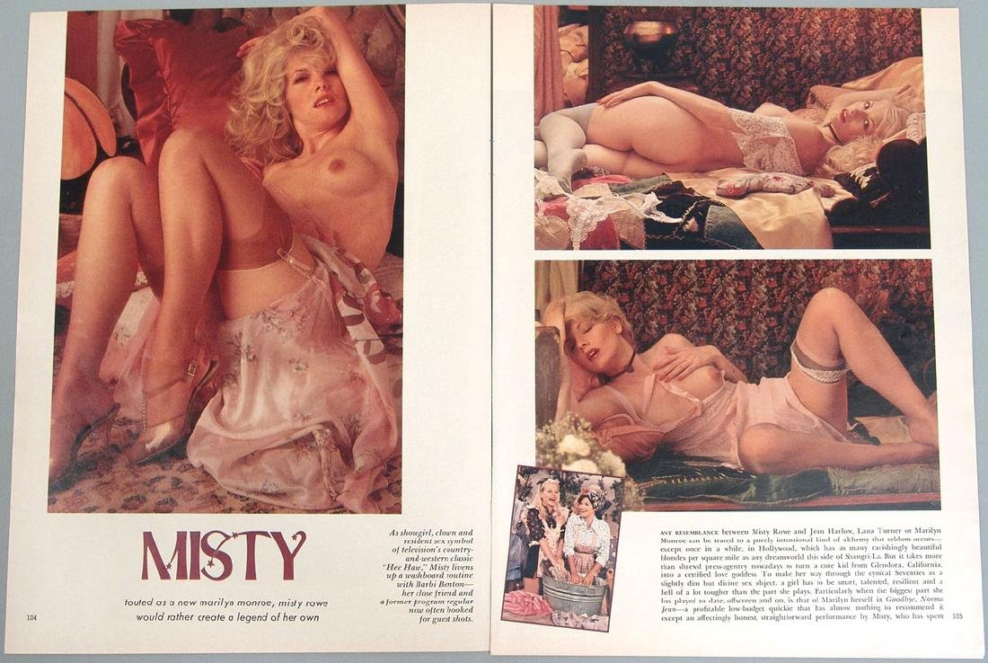 Vintage Nude Pictorial Featuring Misty Rowe