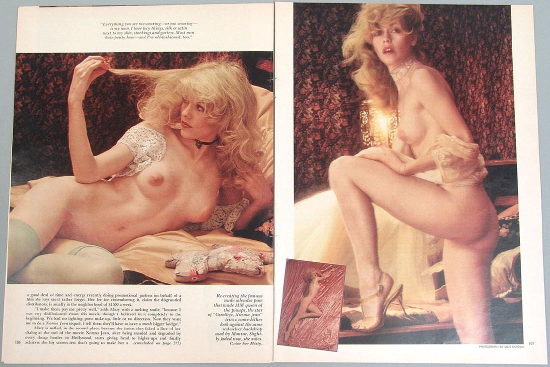 Vintage Nude Pictorial Featuring Misty Rowe - 2