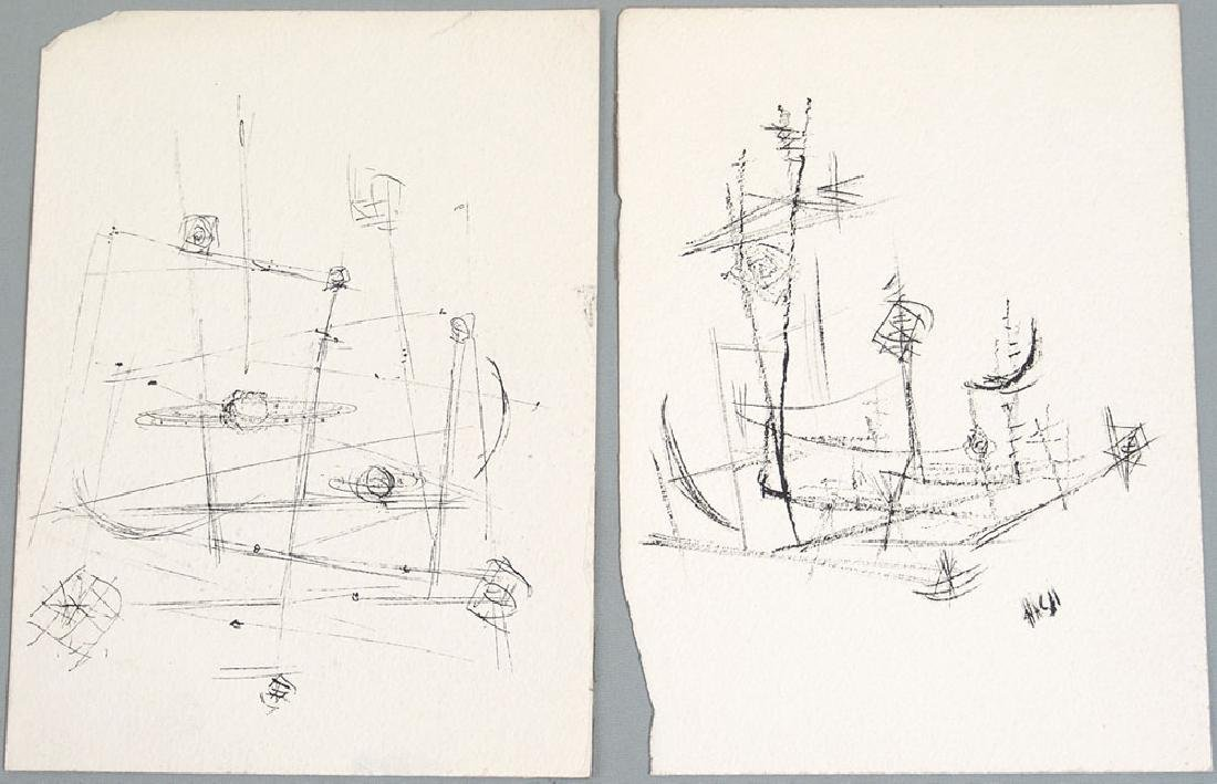 1960s Original Nash Drawings - Modernist Abstract