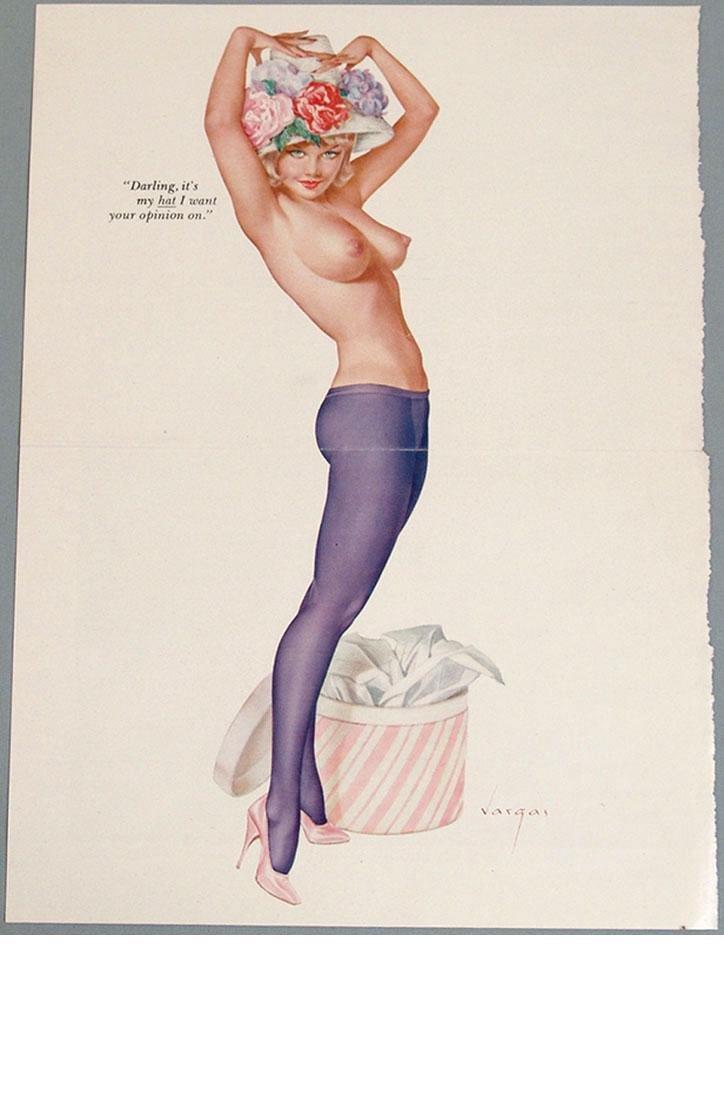 Vintage Nude Playboy Pin-Up by Alberto Vargas