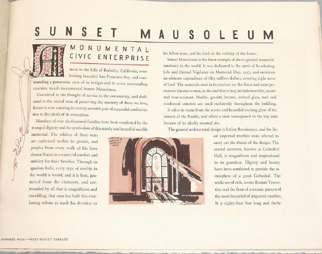Vintage 1960s Promo Book for Sunset Mausoleum - 2