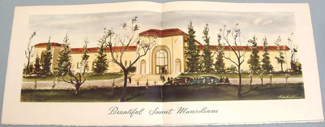 Vintage 1960s Promo Book for Sunset Mausoleum - 4