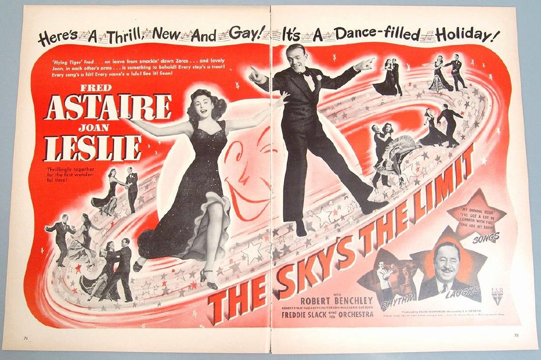 "Vintage Ad for Movie ""The Sky's the Limit"" - Fred"