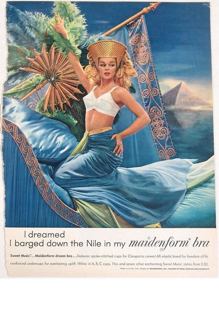 Vintage 1940s/1950s Maidenform Bra Fantasy Ads