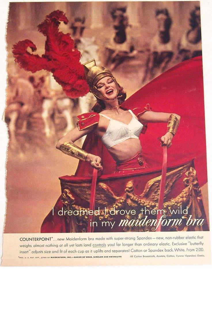 Vintage 1940s/1950s Maidenform Bra Fantasy Ads - 2
