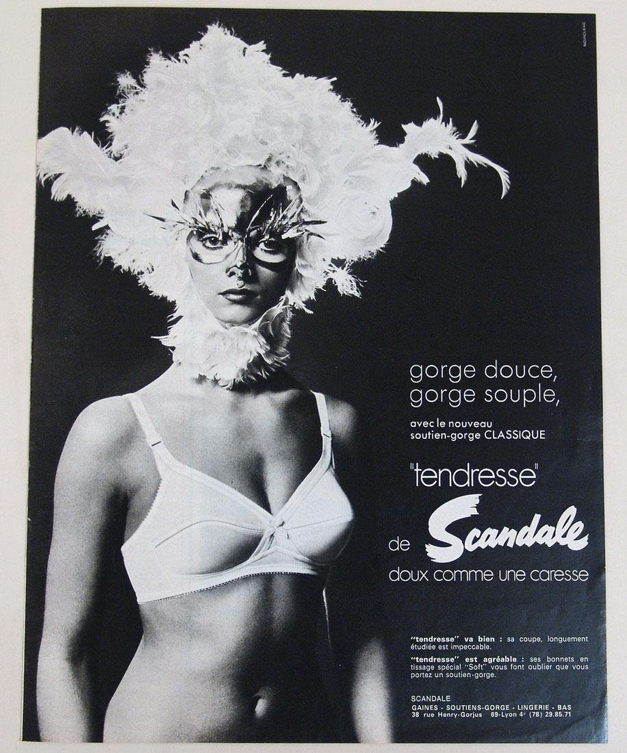 Vintage Risque French Lingerie Ad