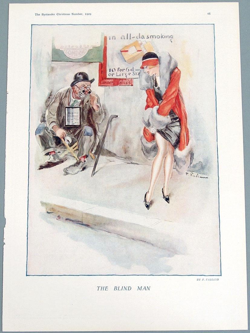 Antique 1929 Risque Print