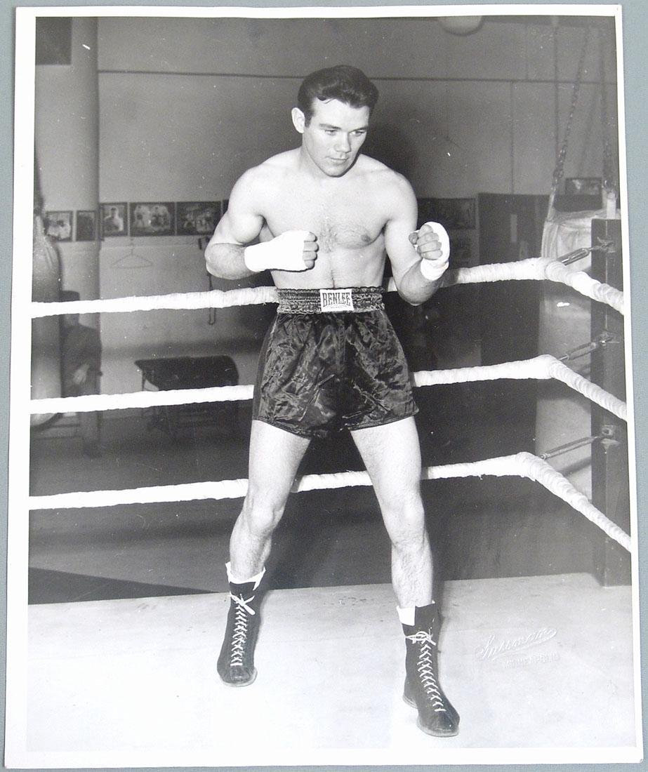 c1950s Boxing Promo Photograph of Del Flanagan
