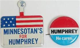 Vintage Hubert Humphrey Campaign Items