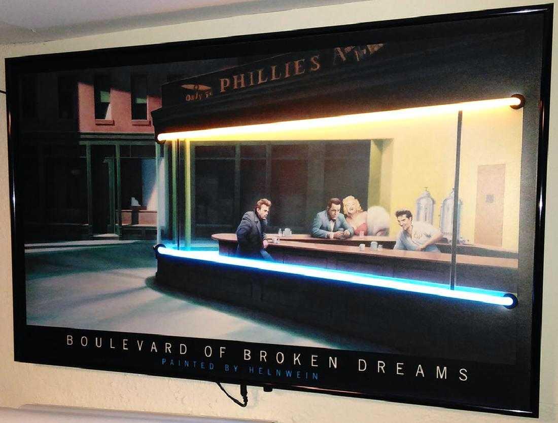 Large Quot Boulevard Of Broken Dreams Quot Print Neon Lights