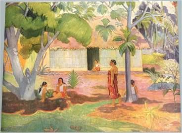 Old Paul Gauguin Print