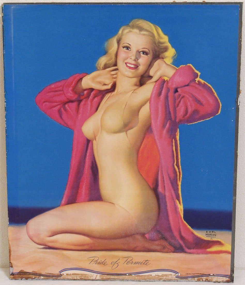 "Vintage Pin-Up by Earl Moran - ""Pride of Permite"""