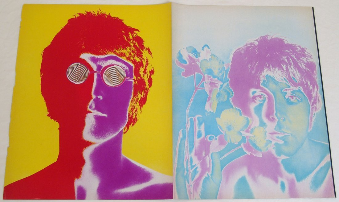 Vintage 1960s Psychedelic Beatles Photos