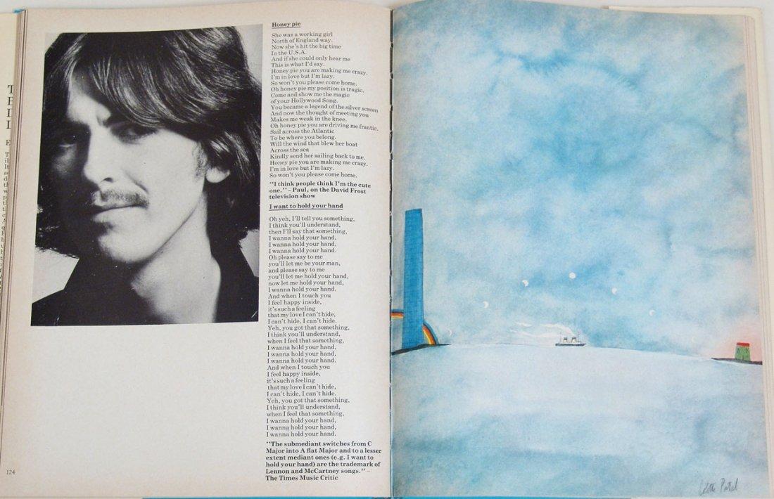 """Vintage 1969 Book """"The Beatles Illustrated Lyrics"""" - 3"""