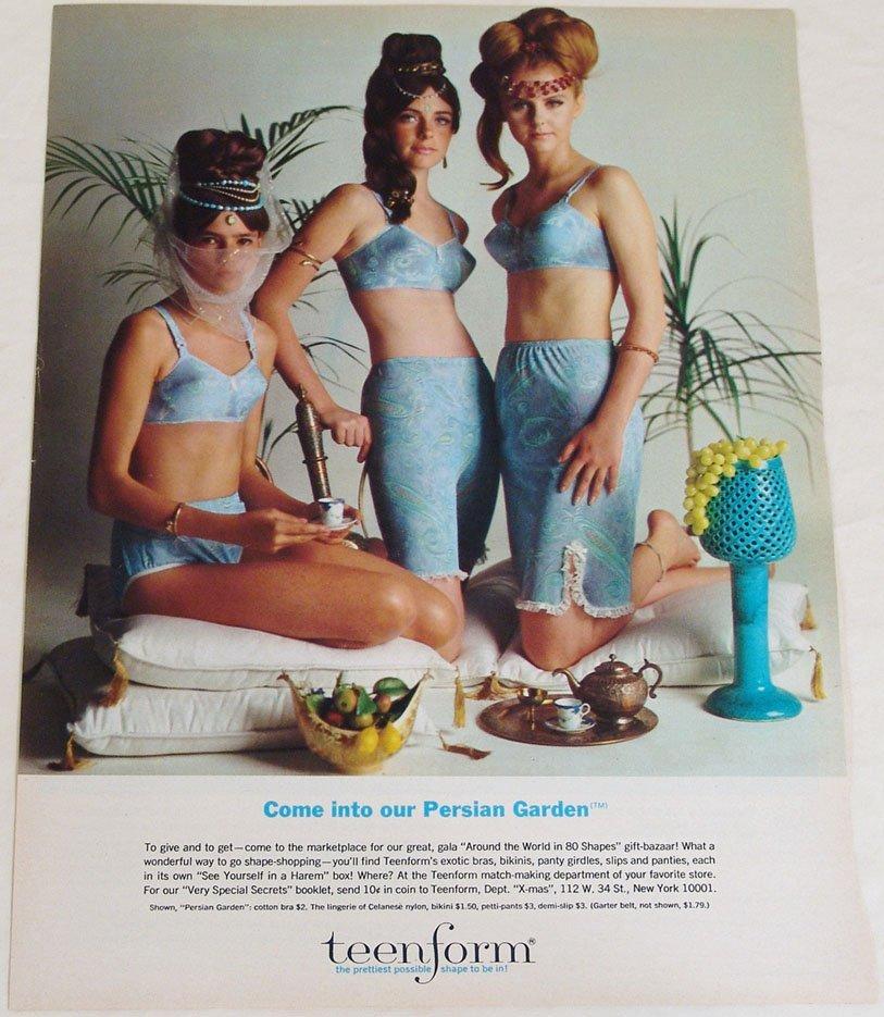 Vintage 1960s Teenform Persian Garden Advertisement
