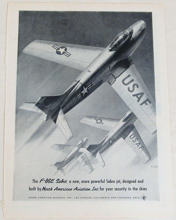 1950s North American Aviation Ad - USAF F-86E Sabre