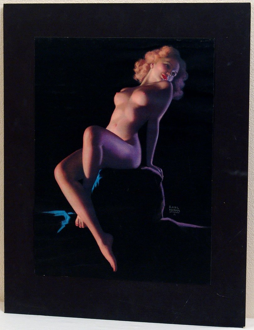 Vintage 1930s/1940s Nude Earl Moran Pin-Up