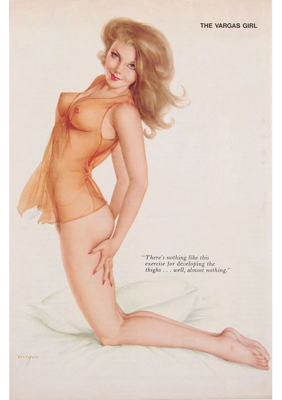 Vintage 1960s/1970s Nude Playboy Pin-Up by Vargas