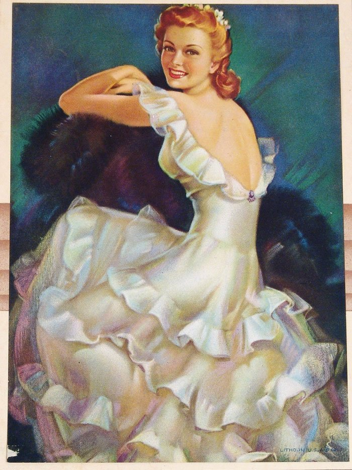 Vintage 1949 Calendar - Attached Print and Full Pad - 2