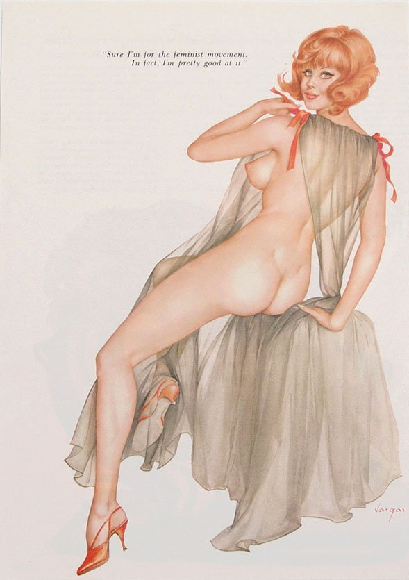 Vintage 1960s/1970s Risque Playboy Pin-Up by Vargas