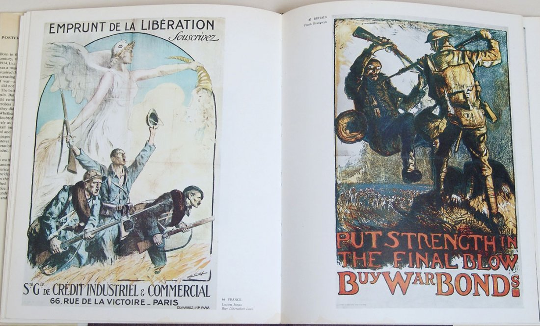 "Vintage 1968 Book ""Posters of the First World War"" - 3"