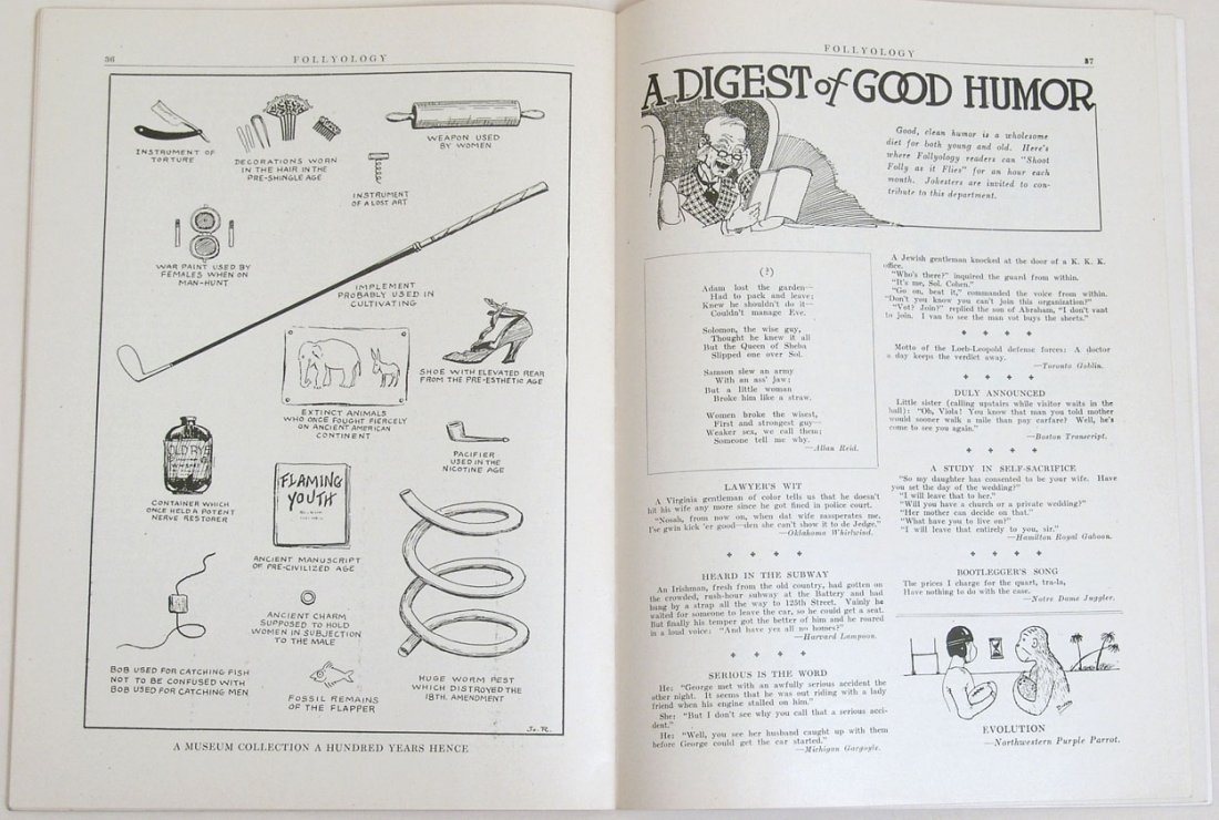 "Antique 1924 ""Folly-ology"" Magazine - 6"
