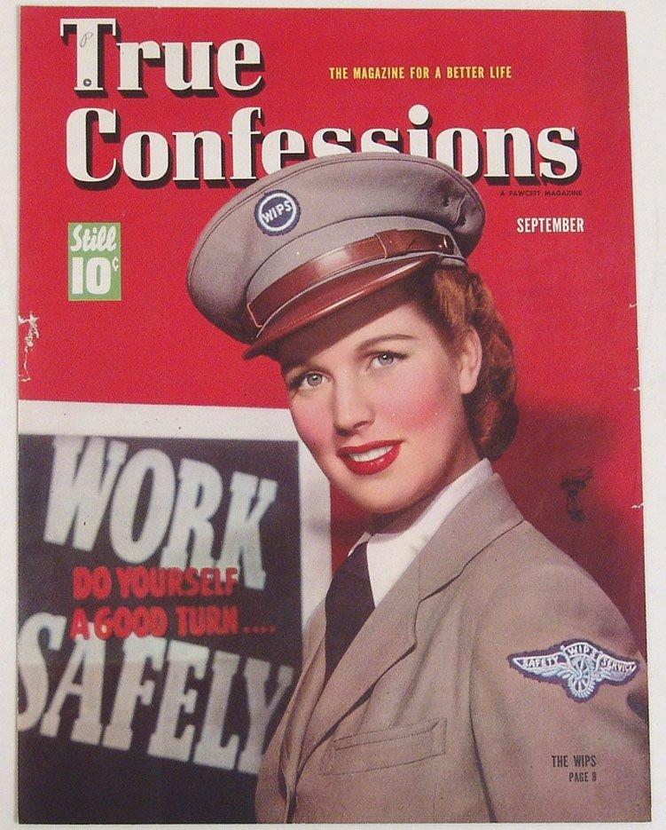 """Antique 1941 """"True Confessions"""" Mag Cover"""