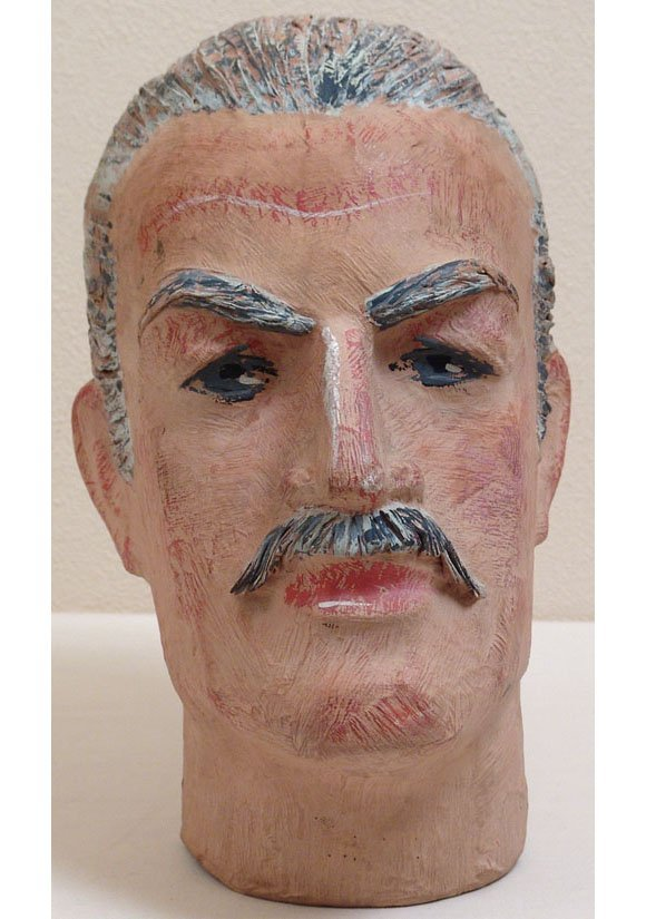 Vintage Mannequin Head - Art Deco Hand-Painted Man