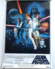 """Laminated """"Star Wars"""" Movie Poster - Dated 1977"""