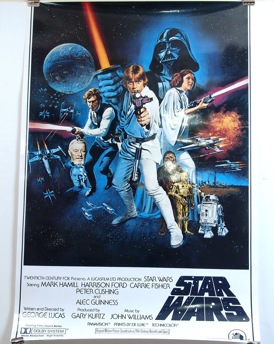 "Laminated ""Star Wars"" Movie Poster - Dated 1977"