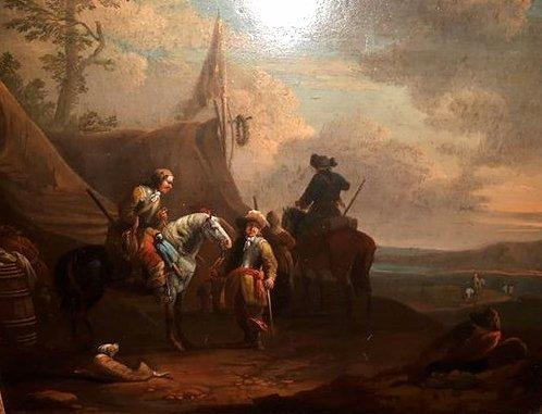 Pieter van Bloemen (1657-1720) - Military camp and rest