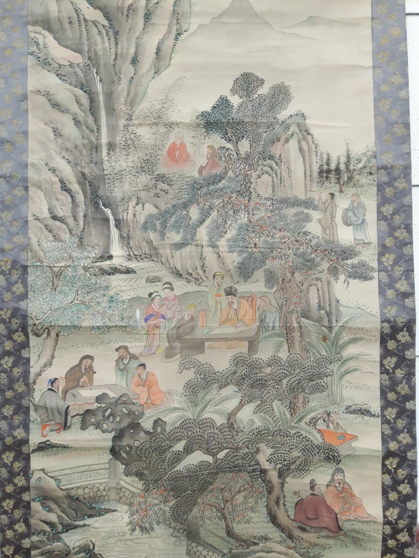 Chinese scroll painting probably 19 century.