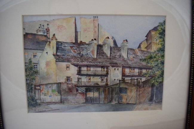 Adolf Hitler Watercolor Painting – Street Scene in Vien - 3