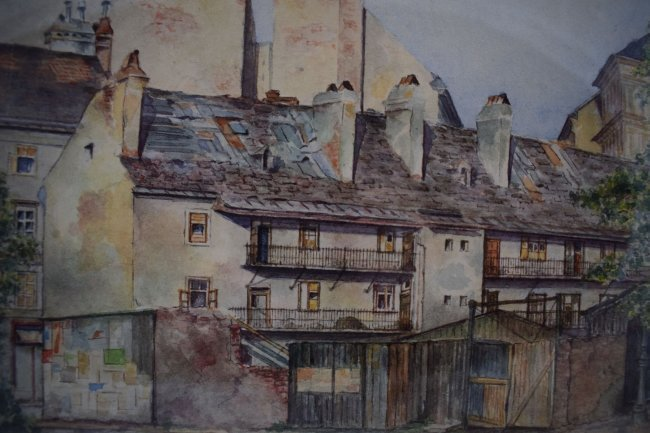 Adolf Hitler Watercolor Painting – Street Scene in Vien - 4
