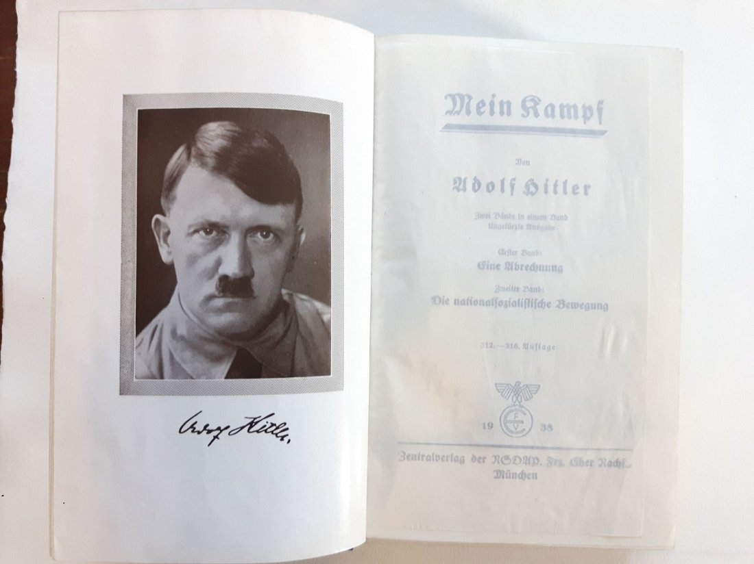 WW2 ADOLF HITLER MEIN KAMPF BOOK 1938 MUNICH GERMANY - 3