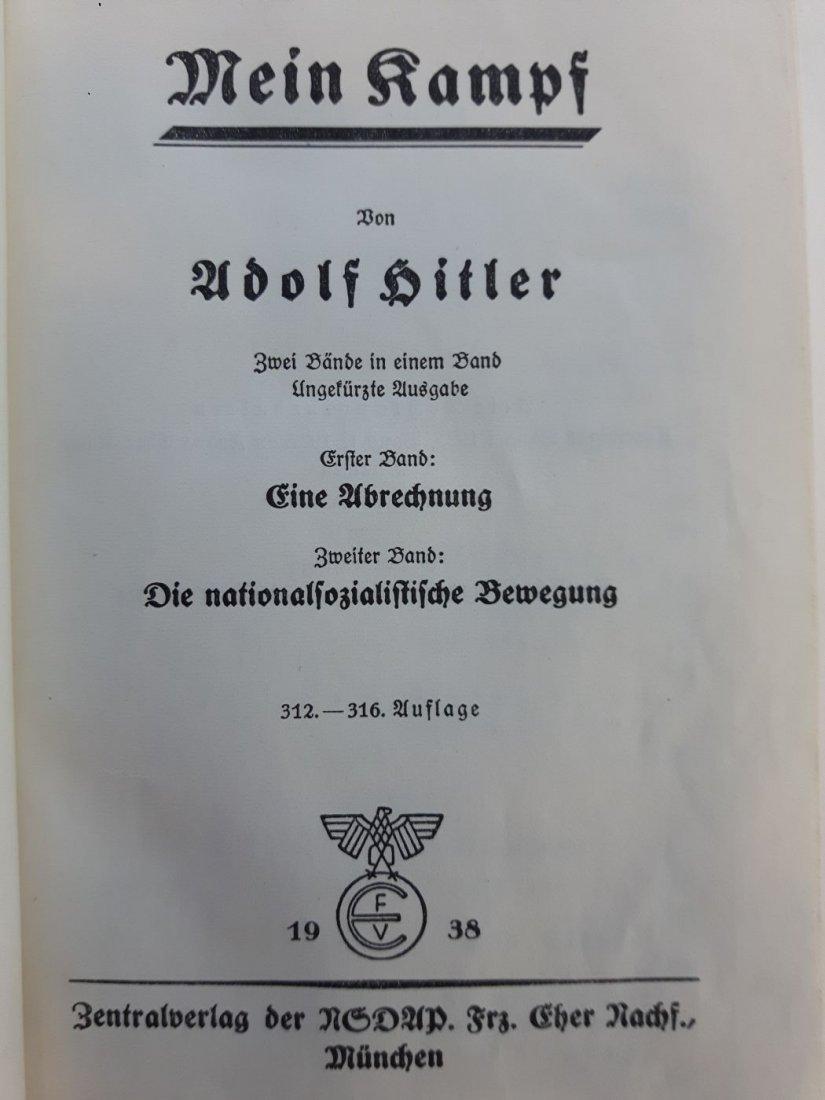 WW2 ADOLF HITLER MEIN KAMPF BOOK 1938 MUNICH GERMANY - 4